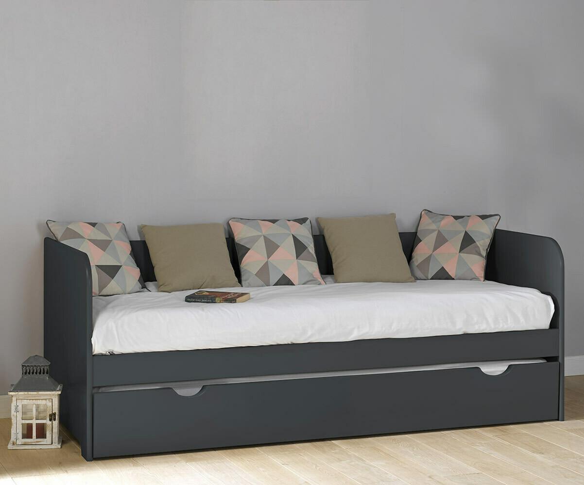 lit banquette gigogne bali blanc 80x200 cm. Black Bedroom Furniture Sets. Home Design Ideas