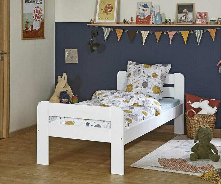Lit enfant bois massif achat lit enfant fabrication fran aise - Matelas enfant 90x190 ...