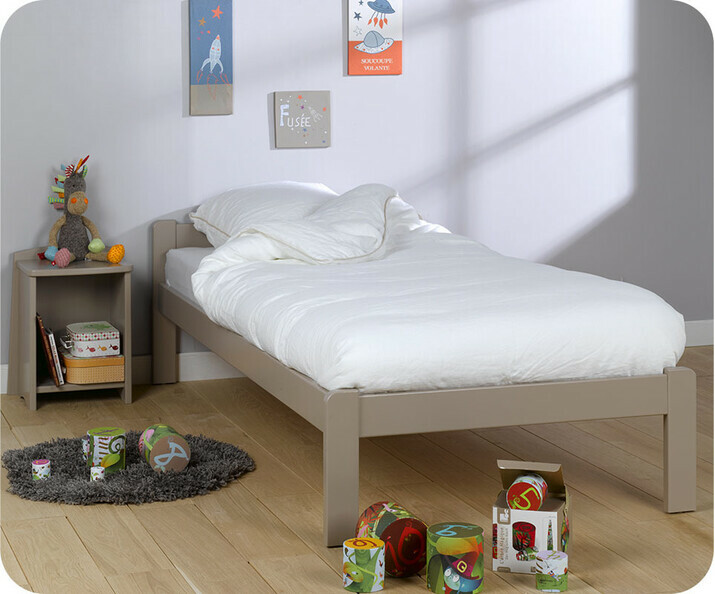Lit enfant bois massif achat lit enfant fabrication fran aise - Sommier et matelas 90x190 ...