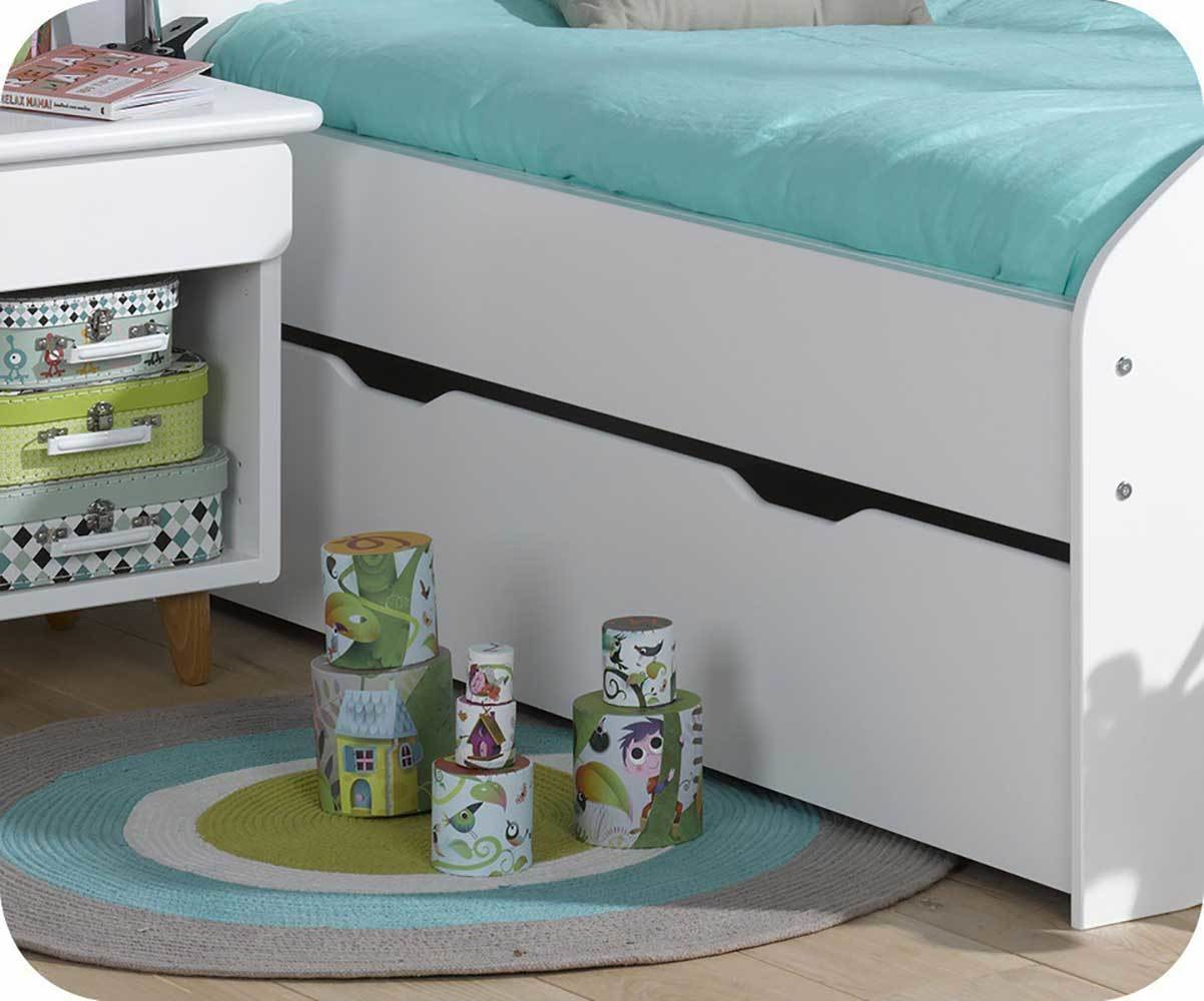 tiroir lit enfant evolutif spoom blanc 90x140 cm. Black Bedroom Furniture Sets. Home Design Ideas
