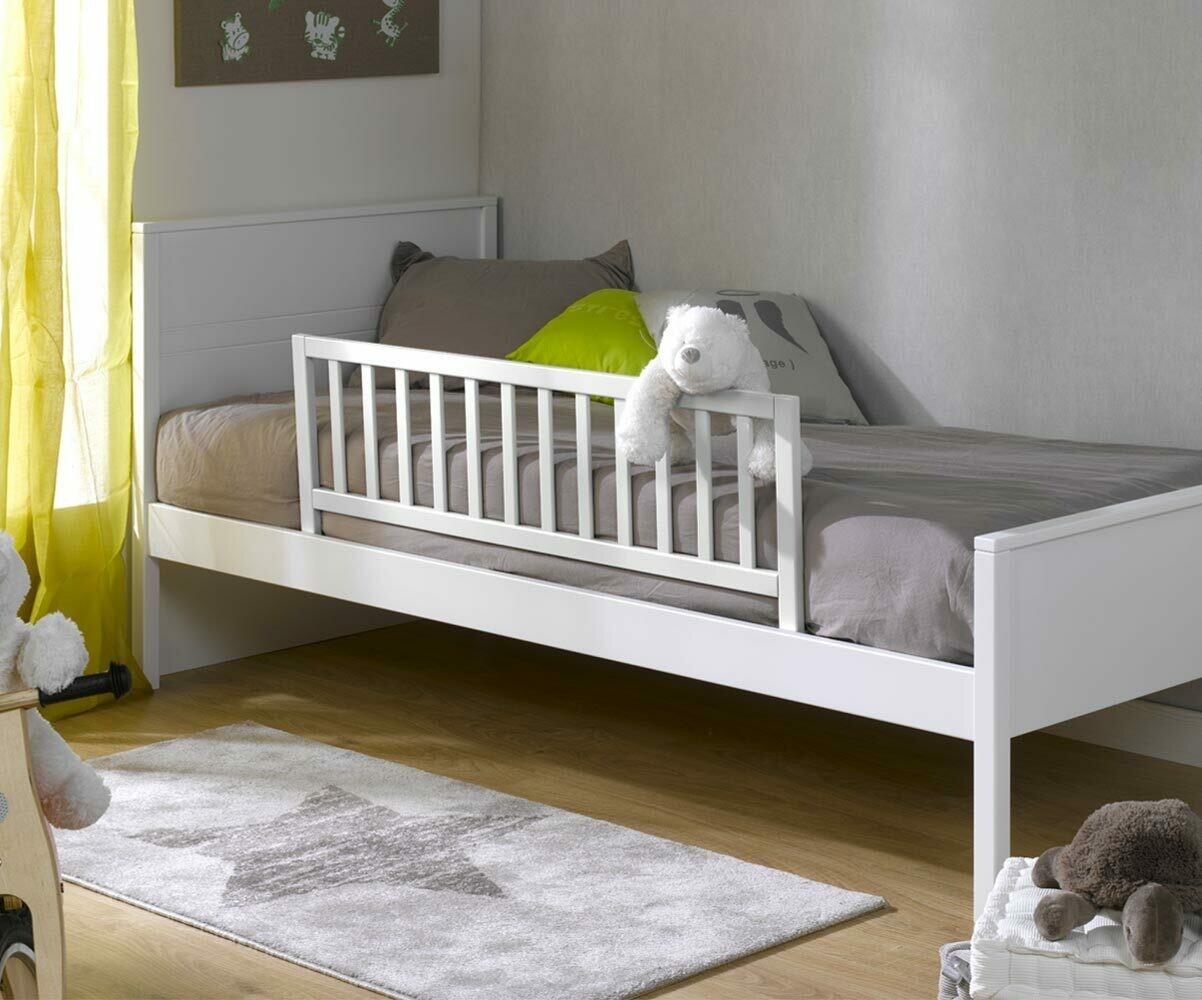 barri re de lit landry blanche. Black Bedroom Furniture Sets. Home Design Ideas