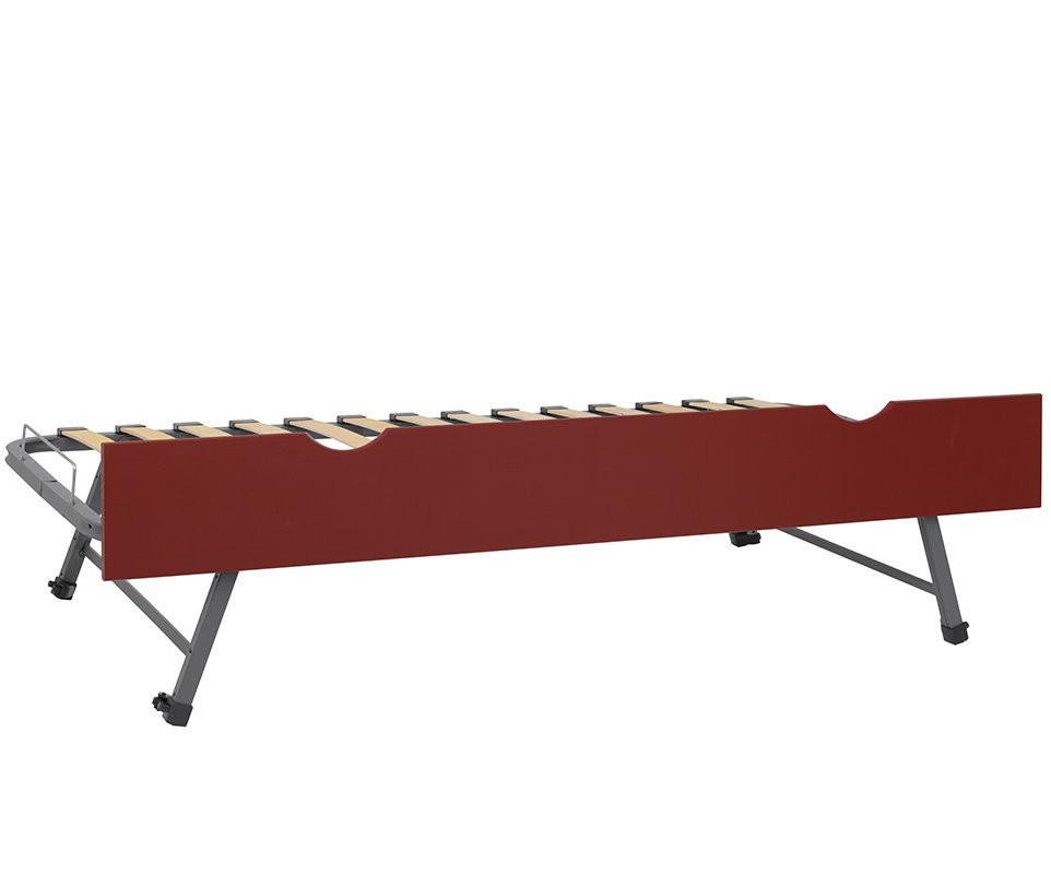 sommier gigogne 90x190 cm fa ade rouge basque pour lits nature 1 2 3 et kids. Black Bedroom Furniture Sets. Home Design Ideas