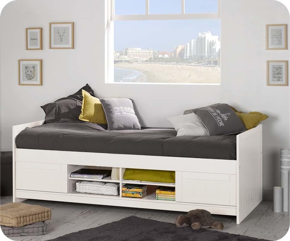 lit enfant opal blanc chambre et mobilier en pin massif. Black Bedroom Furniture Sets. Home Design Ideas