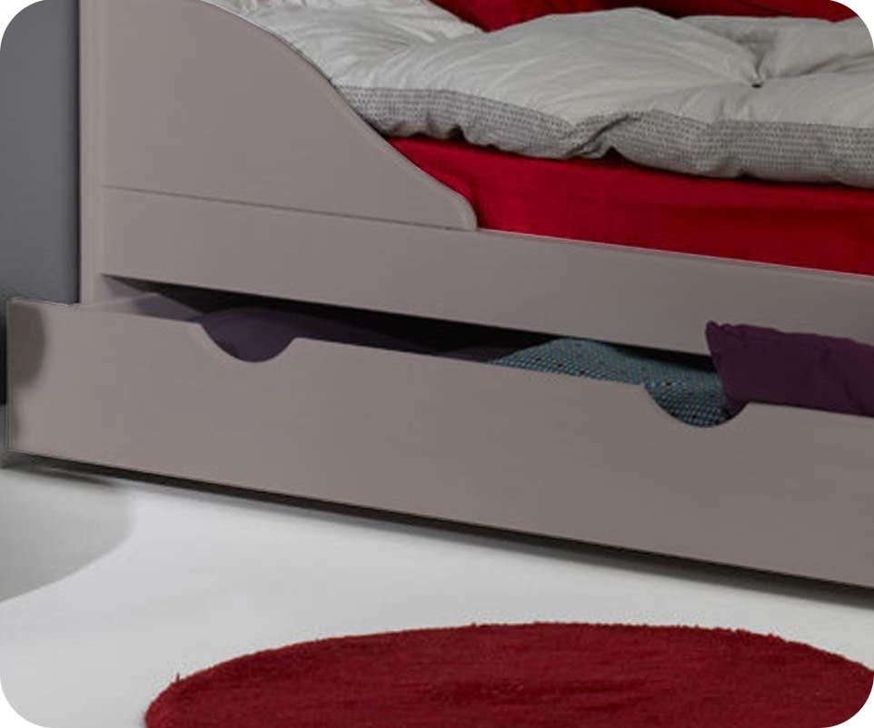 tiroir pour lit enfant evolutif ivoo lin 90x140 cm. Black Bedroom Furniture Sets. Home Design Ideas