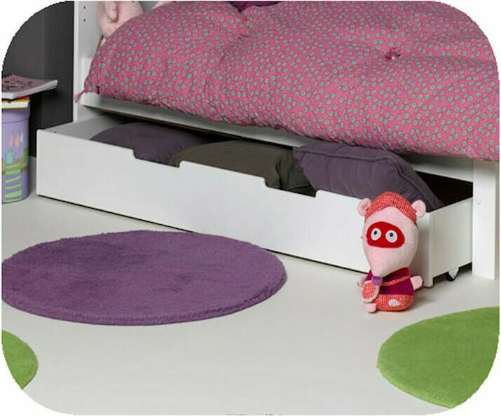 tiroir pour lit enfant evolutif eden blanc 90x140 cm. Black Bedroom Furniture Sets. Home Design Ideas
