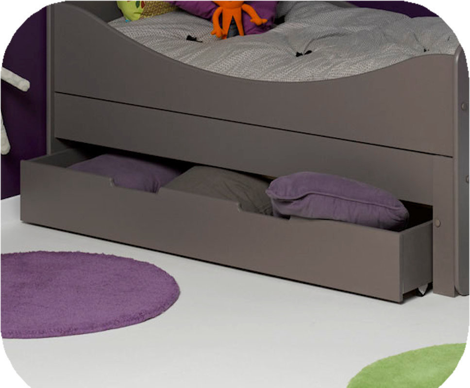 tiroir pour lit enfant evolutif eden taupe 90x140 cm. Black Bedroom Furniture Sets. Home Design Ideas