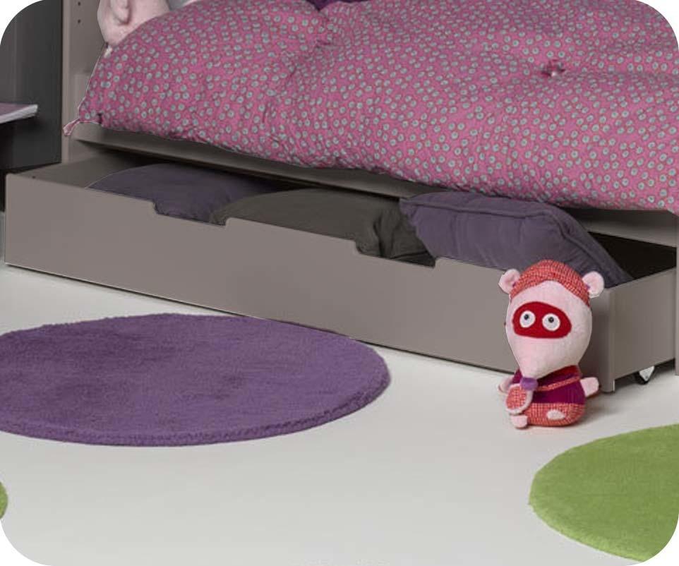 tiroir pour lit enfant evolutif eden lin 90x140 cm. Black Bedroom Furniture Sets. Home Design Ideas