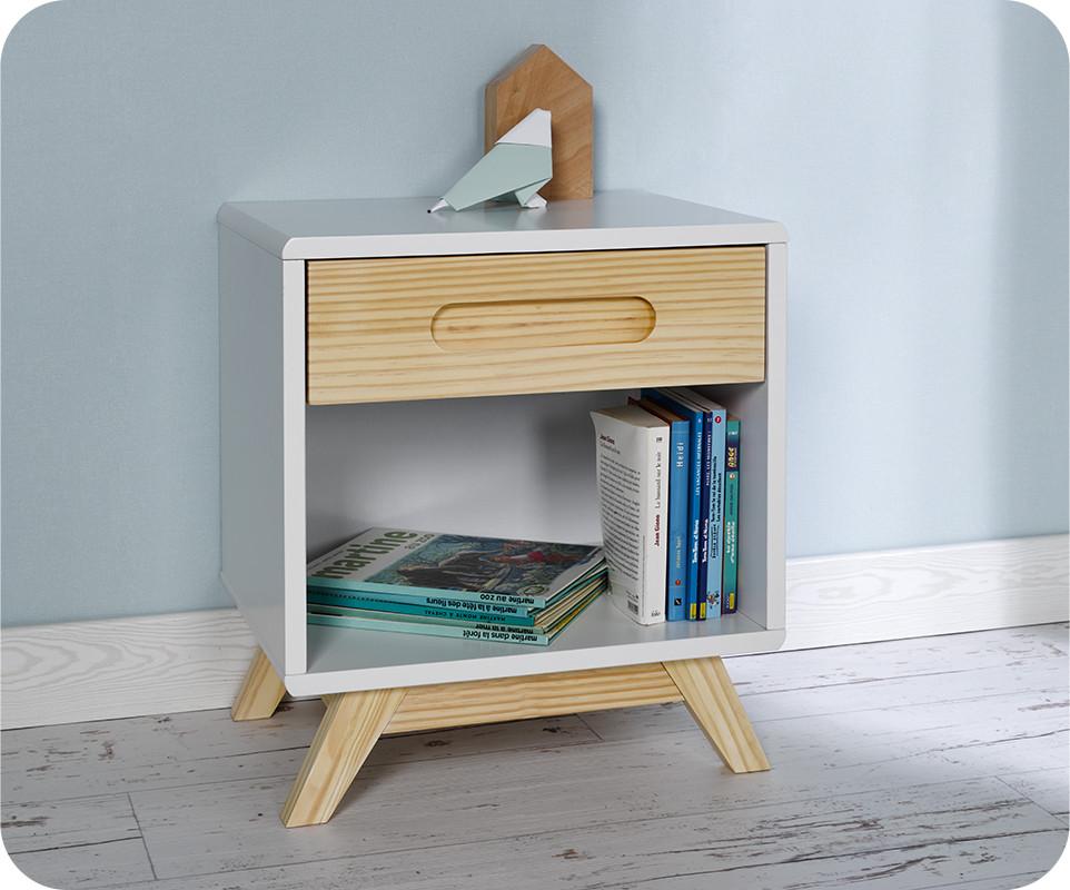 chevet enfant songe blanc chambre et mobilier cologique. Black Bedroom Furniture Sets. Home Design Ideas
