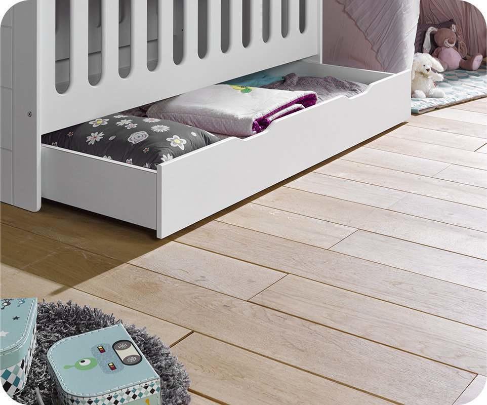 tiroir de lit b b eco bio blanc 70x140 cm. Black Bedroom Furniture Sets. Home Design Ideas