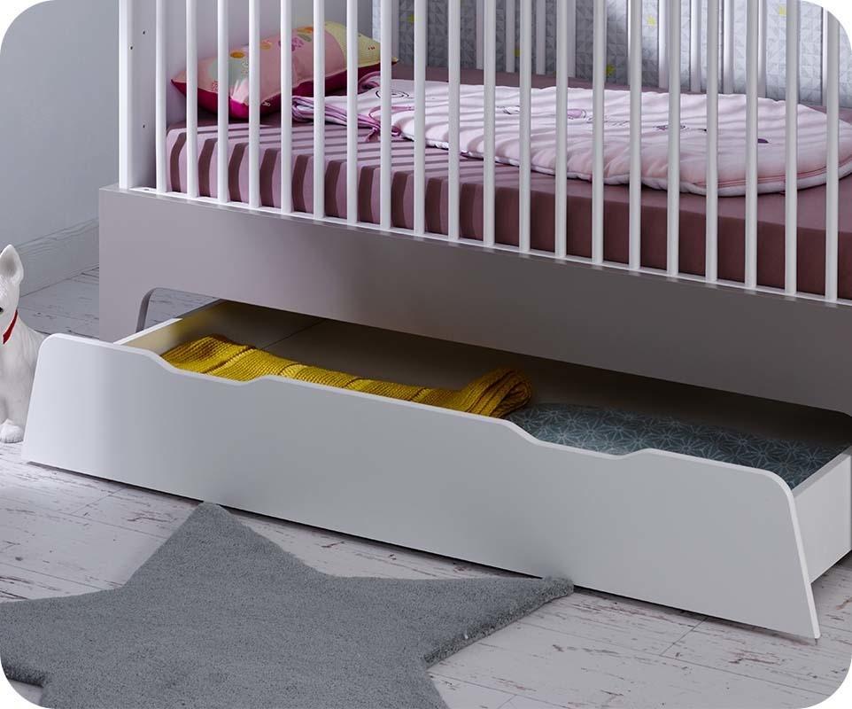 tiroir de lit b b moon blanc mobilier fabrication fran aise. Black Bedroom Furniture Sets. Home Design Ideas
