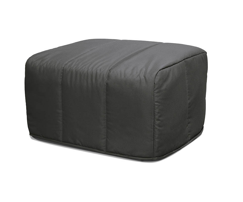 Pouf convertible muffin gris anthracite - Pouf gris anthracite ...