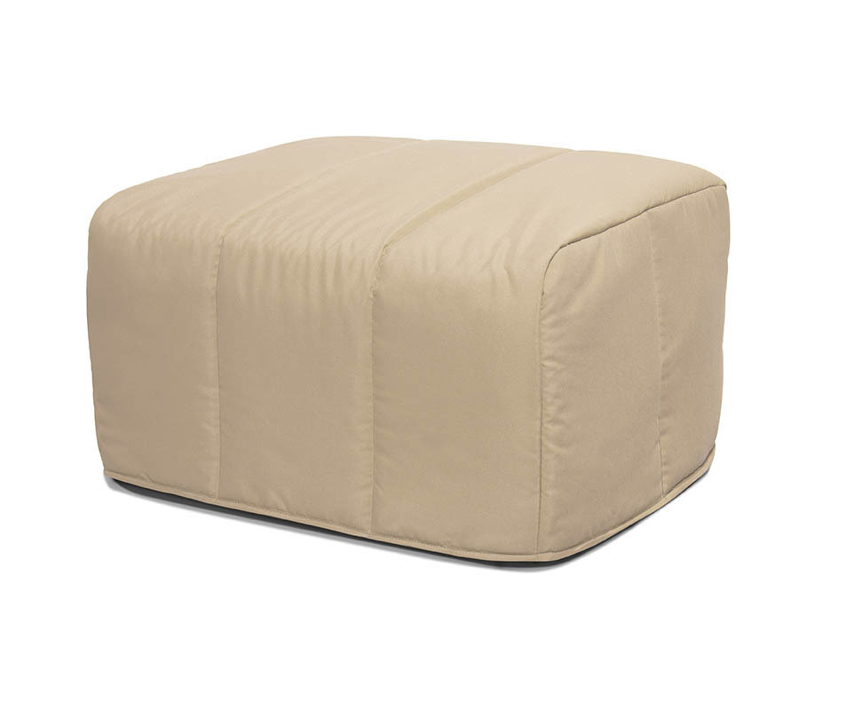 pouf convertible muffin beige lit d 39 appoint design et pratique. Black Bedroom Furniture Sets. Home Design Ideas