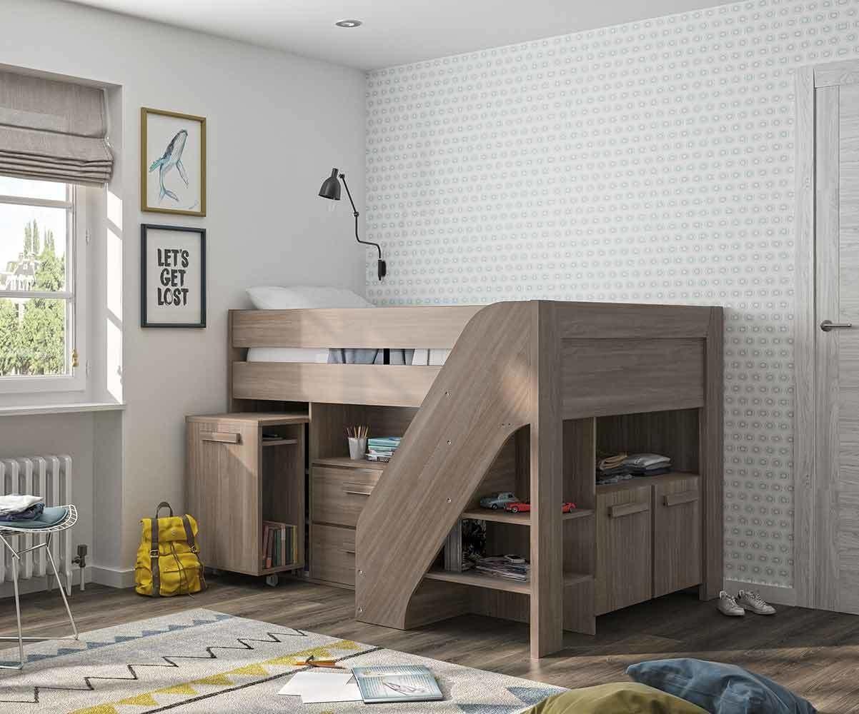 lit enfant mi hauteur auckland ch ne ceris 90x200 cm. Black Bedroom Furniture Sets. Home Design Ideas
