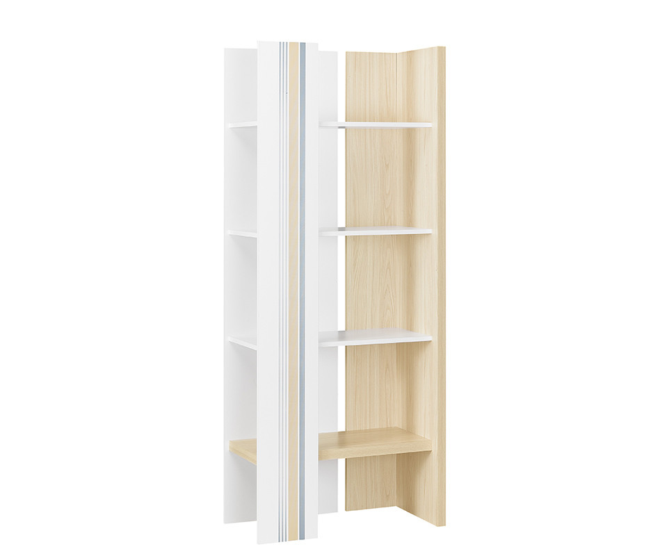 biblioth que enfant bora blanche et bois. Black Bedroom Furniture Sets. Home Design Ideas