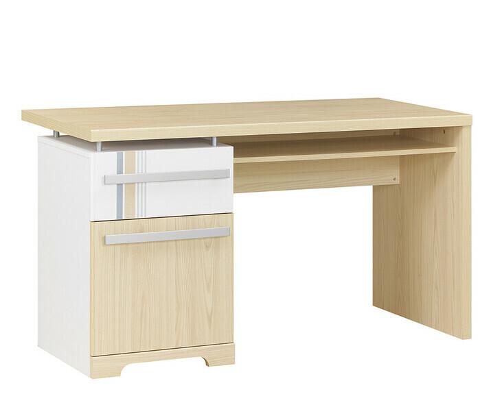 Bureau enfant et junior mobilier chambre bois massif for Bureau blanc et bois clair