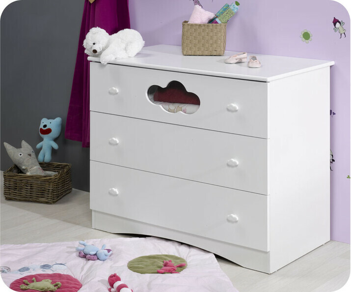 Commode b b pas cher achat mobilier en promo - Commode blanche bebe ...