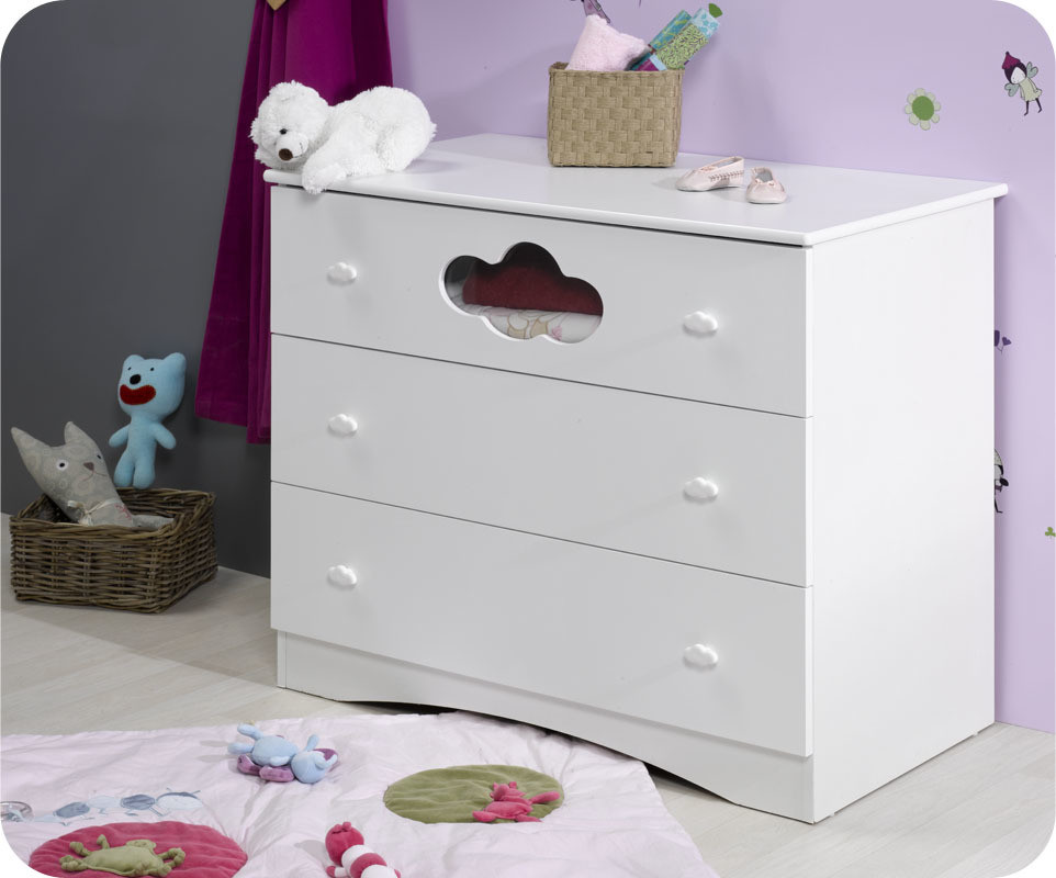 Commode b b alt a blanche achat vente commode langer pas cher - Commode blanche bebe ...