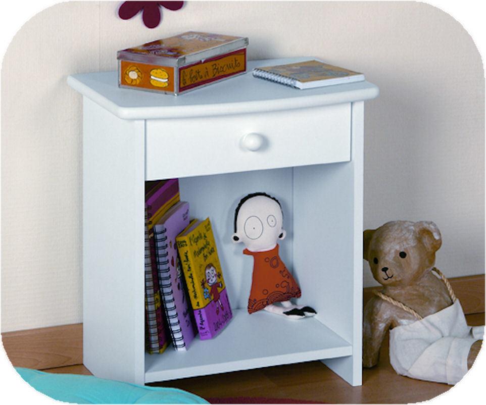 chevet enfant color blanc. Black Bedroom Furniture Sets. Home Design Ideas