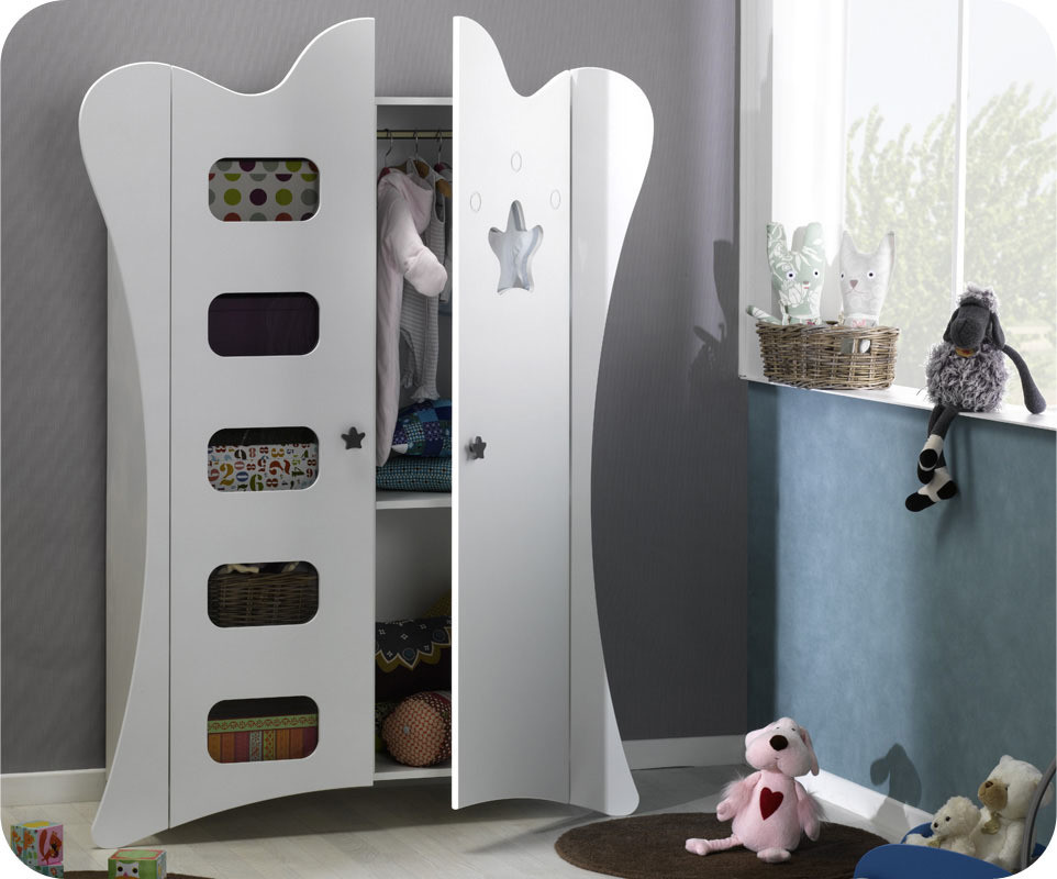 armoire b b king blanche achat vente armoire chambre b b. Black Bedroom Furniture Sets. Home Design Ideas