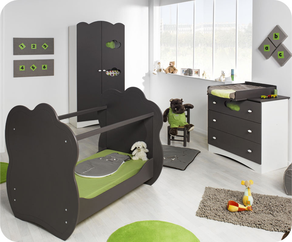 chambre b b compl te alt a taupe achat vente chambre b b. Black Bedroom Furniture Sets. Home Design Ideas