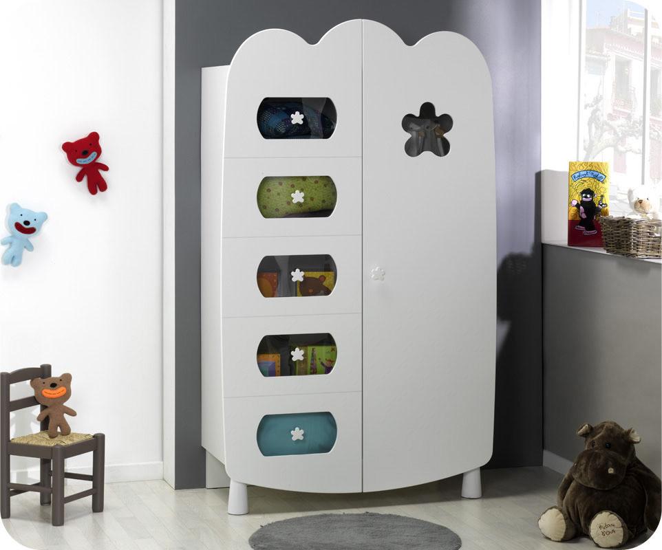 armoire b b lin a blanche achat vente armoire chambre. Black Bedroom Furniture Sets. Home Design Ideas