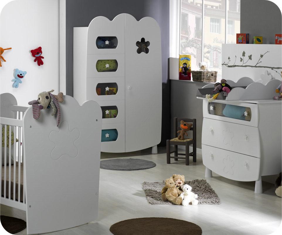 chambre b b lin a blanche achat vente de chambre b b. Black Bedroom Furniture Sets. Home Design Ideas