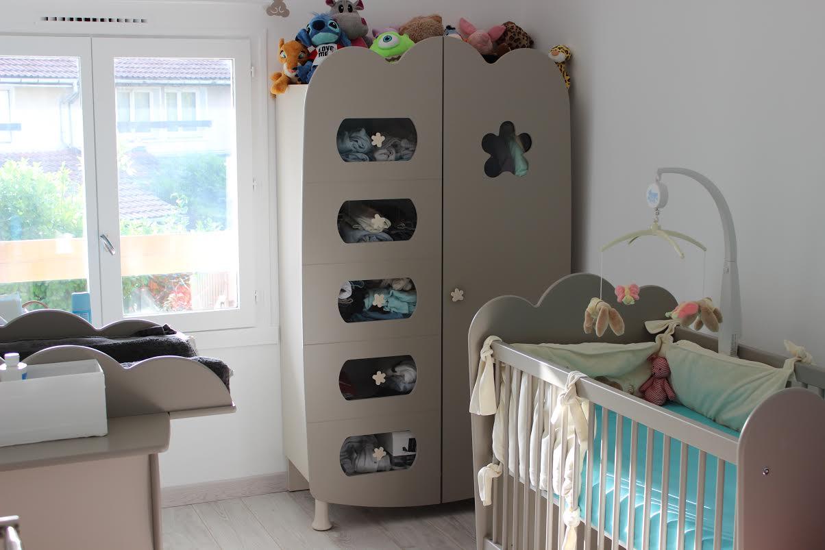 Découvrez la Chambre bébé Linéa Lin avec Lit à Barreaux