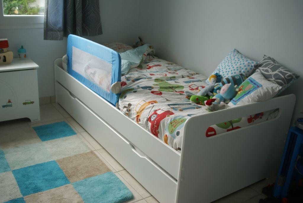Le lit enfant gigogne eden blanc par laure - Lit gigogne confortable ...