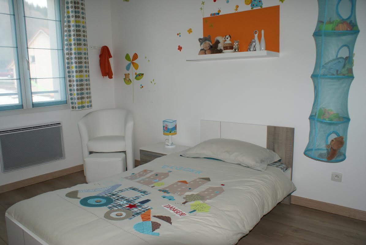 lit enfant jazz blanc et ch ne gris 90x190 cm. Black Bedroom Furniture Sets. Home Design Ideas