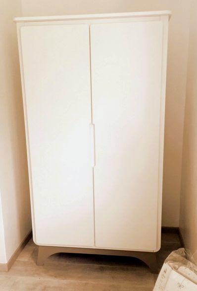 armoire b b pepper blanche et lin achat armoire chambre b b. Black Bedroom Furniture Sets. Home Design Ideas