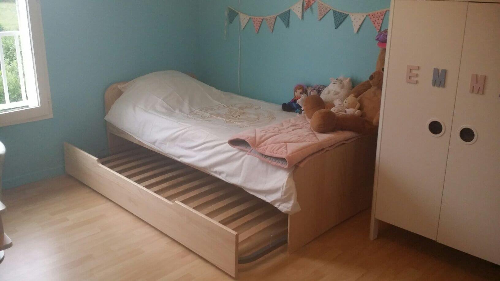 Le lit enfant gigogne Sleep'in brut
