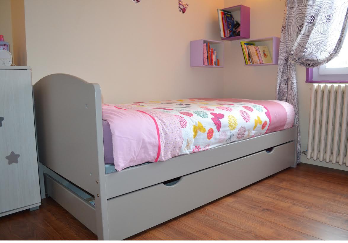lit enfant nature lin 90x200 cm. Black Bedroom Furniture Sets. Home Design Ideas