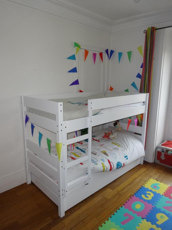 Le Lit Enfant Superposé Kids Blanc
