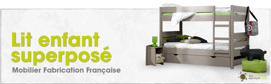 lit superpos enfant bois massif fabrication fran aise. Black Bedroom Furniture Sets. Home Design Ideas