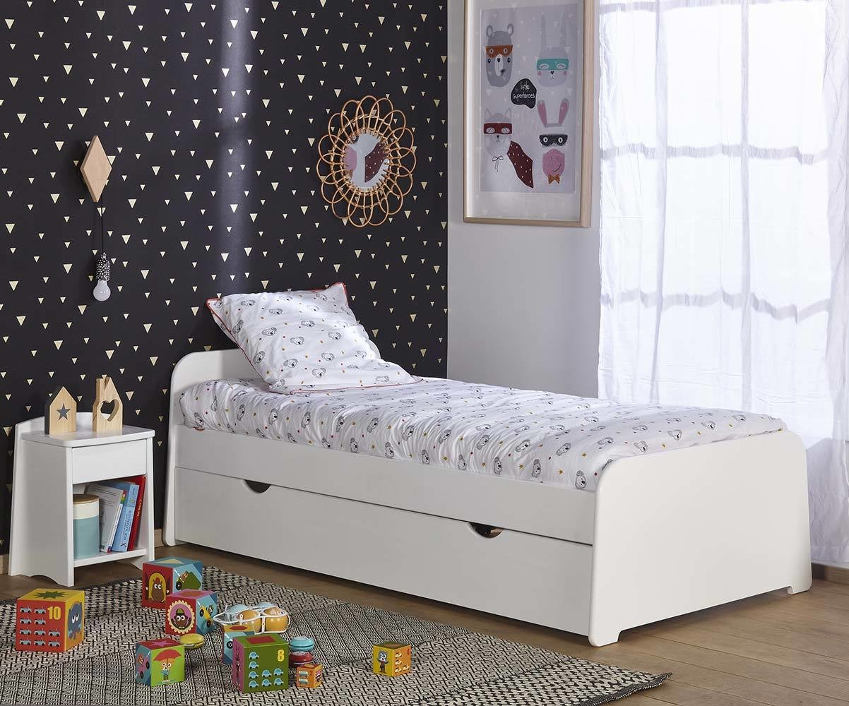 lit enfant gigogne eden blanc 90x200 cm. Black Bedroom Furniture Sets. Home Design Ideas