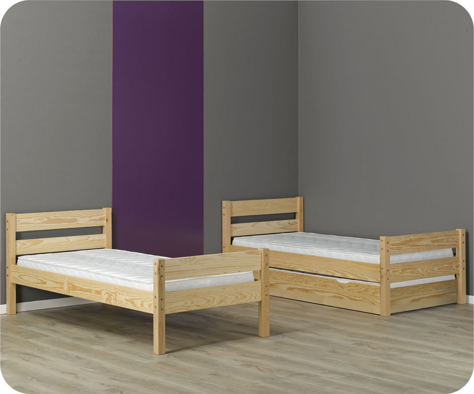 lit superpos enfant 1 2 3 brut peindre 90x190 cm. Black Bedroom Furniture Sets. Home Design Ideas