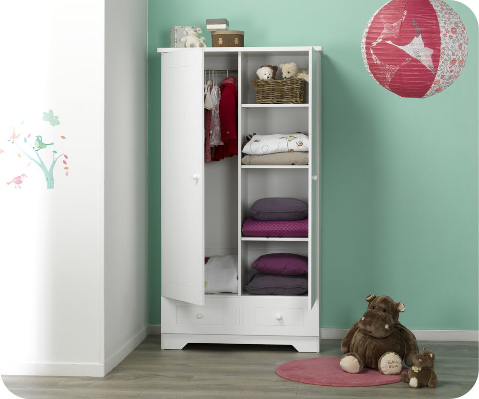 armoire b b oslo blanche achat vente armoire chambre b b. Black Bedroom Furniture Sets. Home Design Ideas