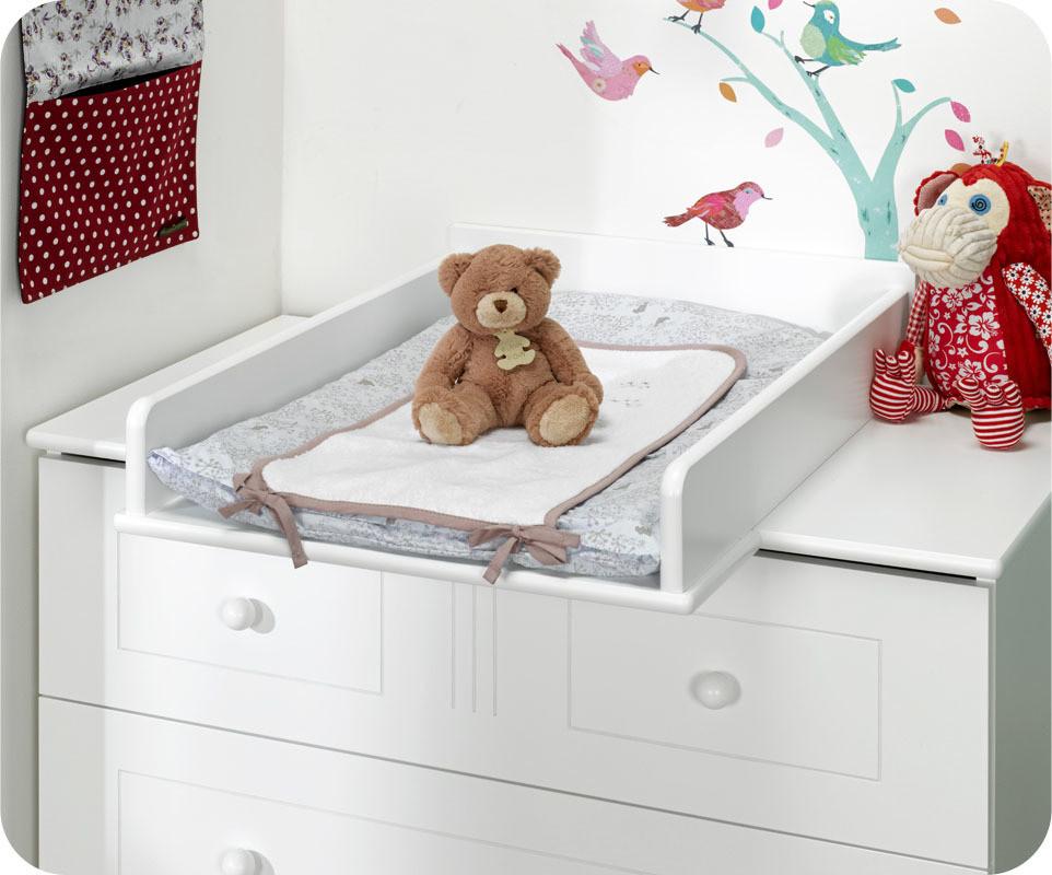 Mini chambre b b oslo blanche plan langer - Plan a langer adaptable commode ...