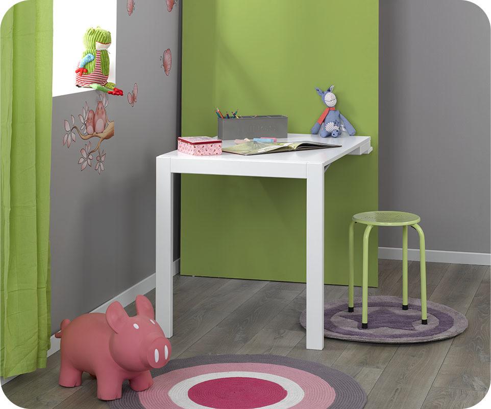Bureau tableau up blanc mobilier pour enfant ludique et Écologique