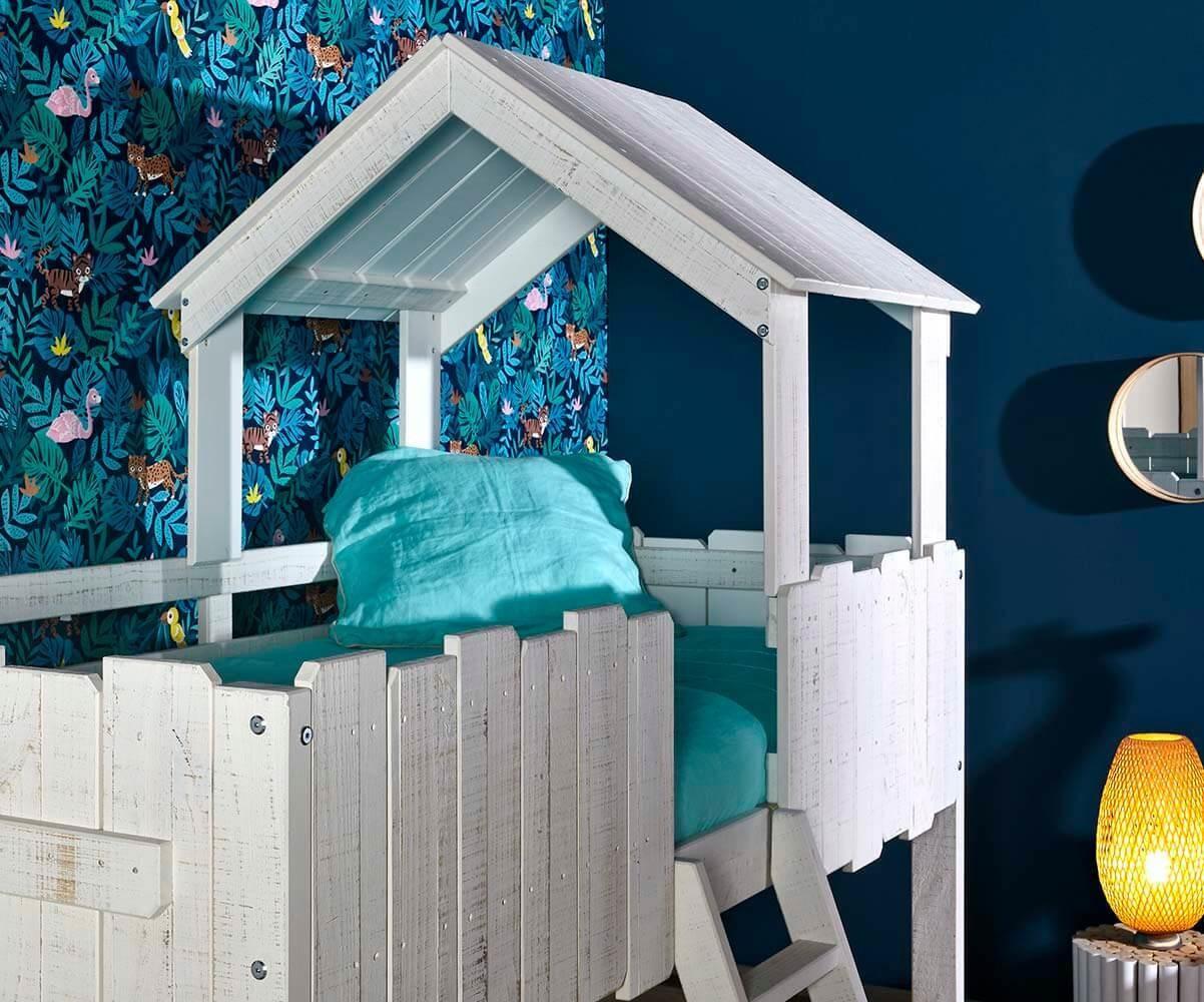 pack lit enfant cabane swam blanc. Black Bedroom Furniture Sets. Home Design Ideas