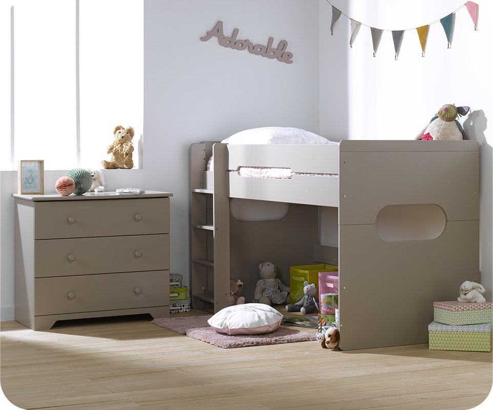 lit enfant mi hauteur spark lin 90x200 cm. Black Bedroom Furniture Sets. Home Design Ideas