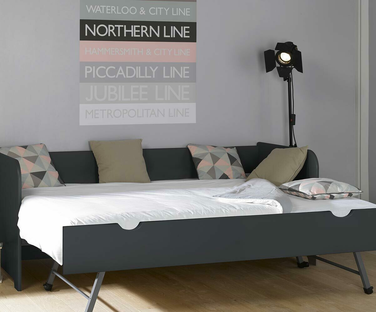 pack lit gigogne bali blanc 80x200 cm avec 2 matelas. Black Bedroom Furniture Sets. Home Design Ideas