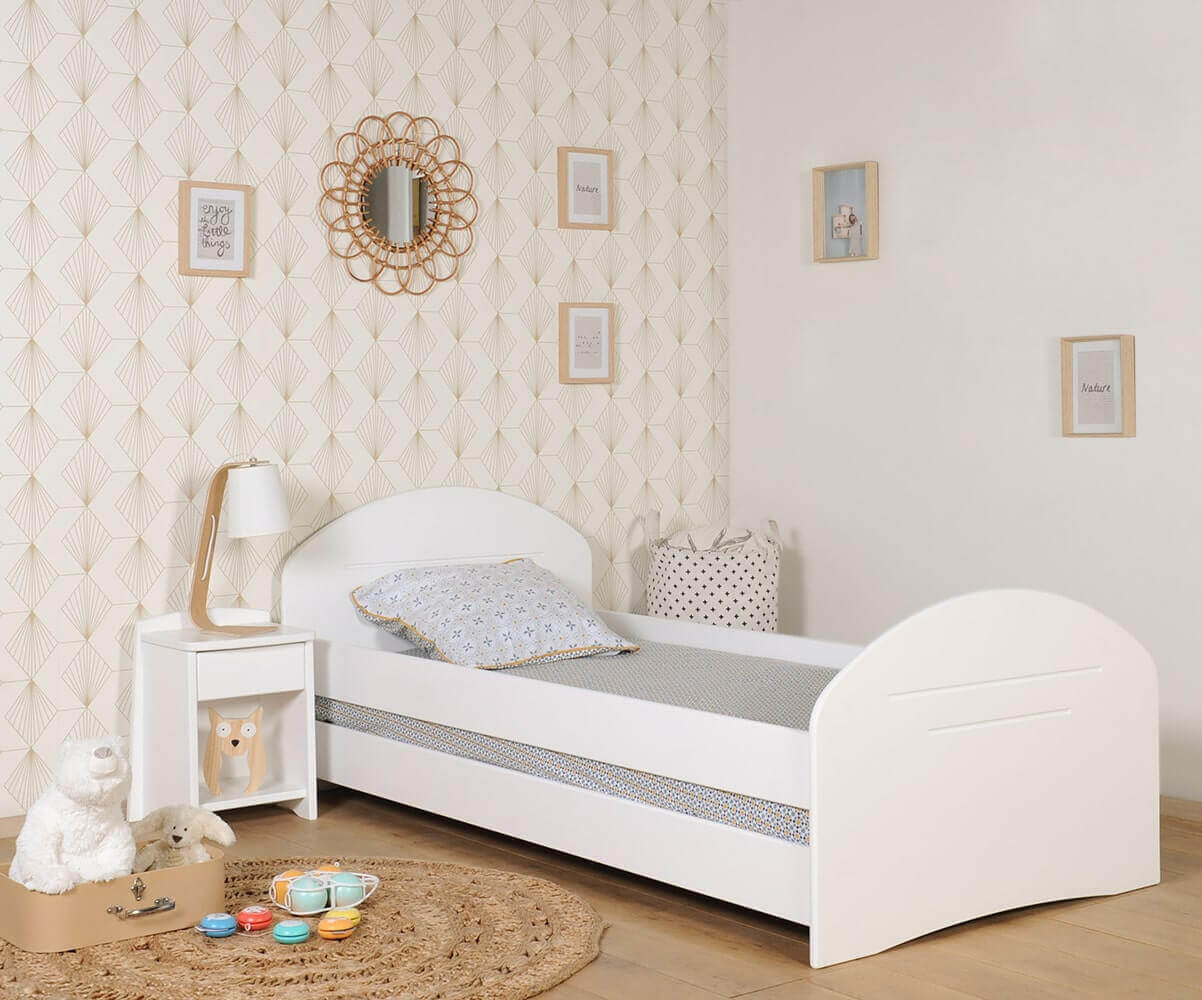 lit enfant volutif spoom blanc achat vente de lit transformable. Black Bedroom Furniture Sets. Home Design Ideas