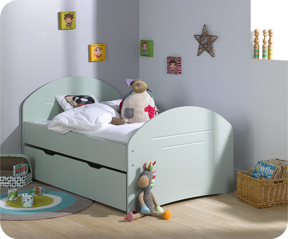 Tiroir Lit Enfant Evolutif Spoom Menthe 90x140 cm