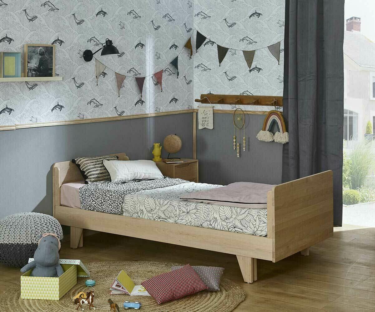 Pack lit gigogne nature blanc 90x200 cm avec 2 matelas for Chambre ado garçon avec matelas pour lit relaxation
