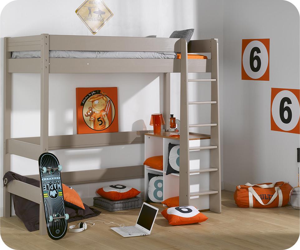 lit mezzanine enfant clay lin achat vente lit mezzanine bois massif. Black Bedroom Furniture Sets. Home Design Ideas