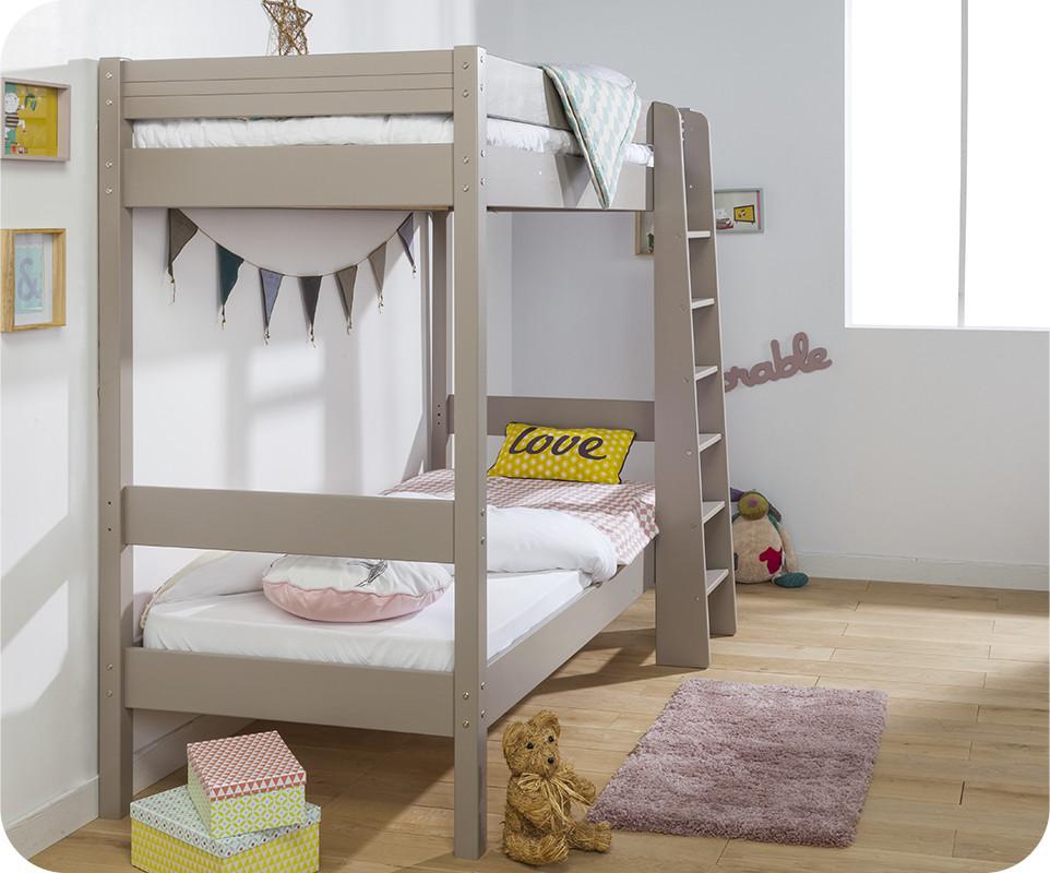 lit superpos enfant clay lin achat vente lit superpos bois massif. Black Bedroom Furniture Sets. Home Design Ideas