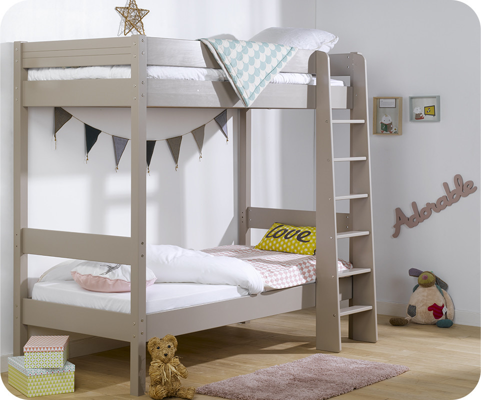 Lit superpos enfant clay lin achat vente lit superpos for Barriere de lit superpose