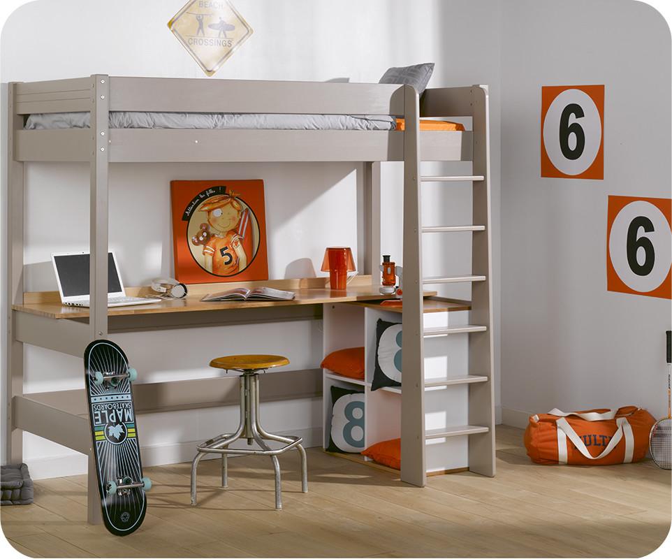 lit mezzanine enfant clay lin avec matelas vente mobilier. Black Bedroom Furniture Sets. Home Design Ideas