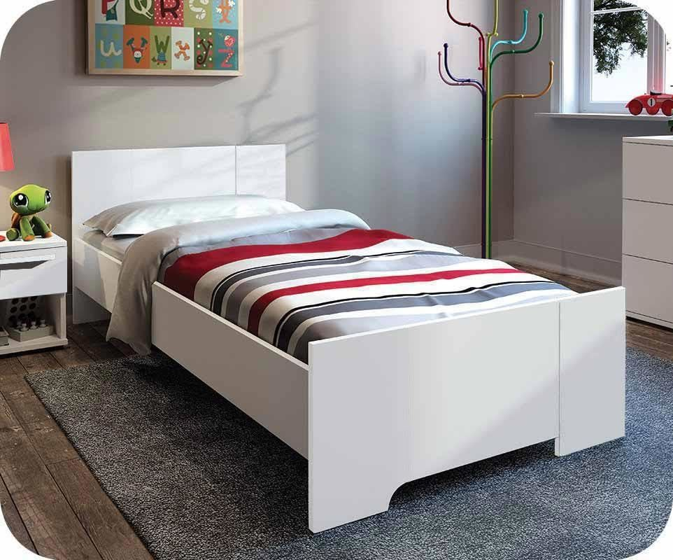lit enfant jazz blanc 90x190 cm achat vente lit enfant. Black Bedroom Furniture Sets. Home Design Ideas